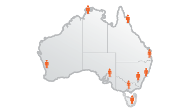 Truck Delivery Australian Map