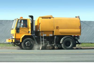Street Sweeper Truck Transport