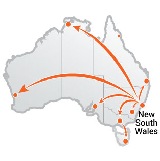 Truck Moves From New South Wales
