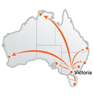 Truck Moves From Victoria