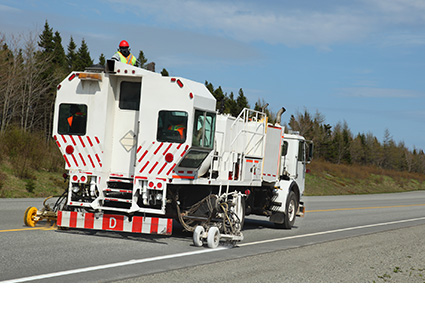 Line Marking Truck Transport