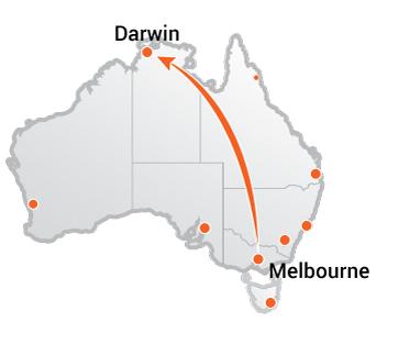 Truck Transport Melbourne to Darwin