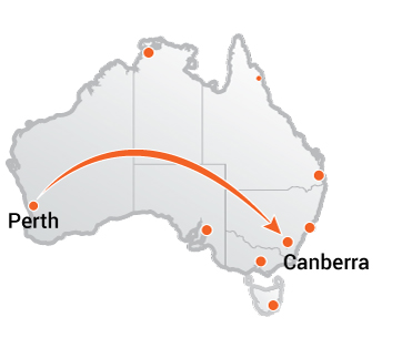 Truck Movers Perth to Canberra