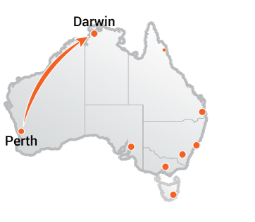 Truck Movers Perth to Darwin