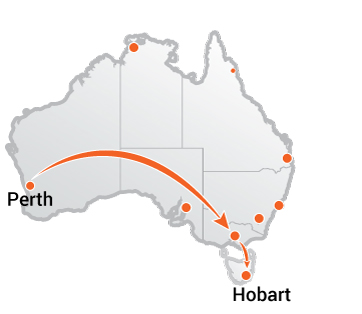 Truck Movers Perth to Hobart