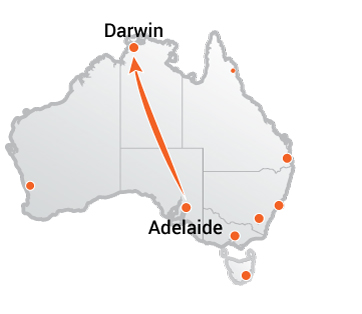 Truck Movers Adelaide to Darwin