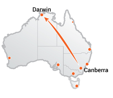 Truck Movers From Canberra to Darwin