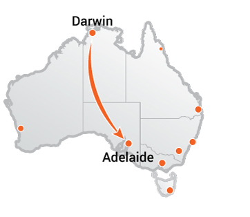 Truck Movers Darwin to Adelaide