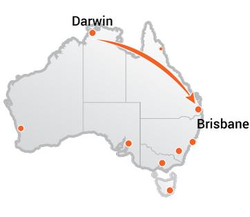 Truck Movers Darwin to Brisbane