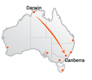 Truck Movers Darwin to Canberra