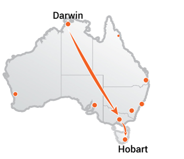 Truck Movers Darwin to Hobart