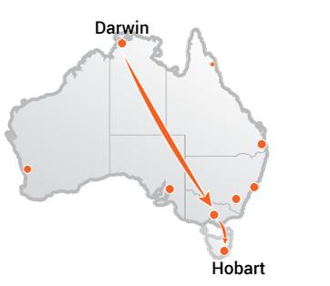 Truck Movers Darwin to Hobart