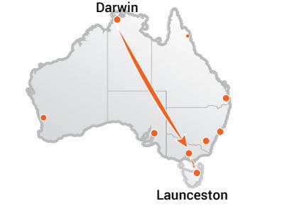 Truck Movers Darwin to Launceston