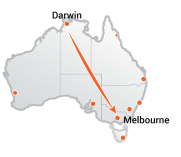 Truck Movers Darwin to Melbourne