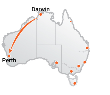 Truck Movers Darwin to Perth