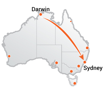 Truck Movers Darwin to Sydney