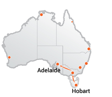 Truck Movers Hobart to Adelaide