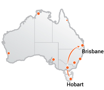 Truck Movers Hobart to Brisbane