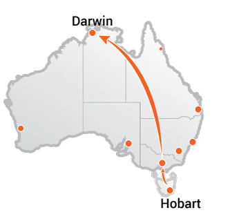 Truck Movers Hobart to Darwin