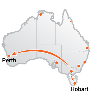 Truck Transport Hobart to Perth